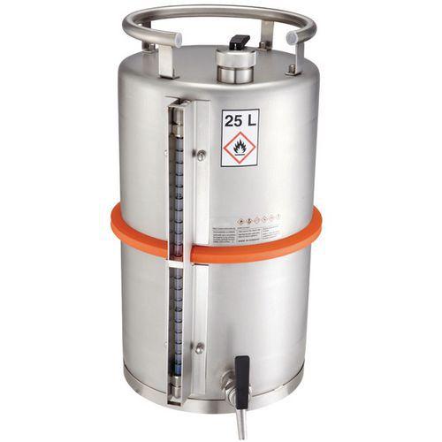 Bidão de armazenamento de segurança - Capacidade de armazenamento 25 L