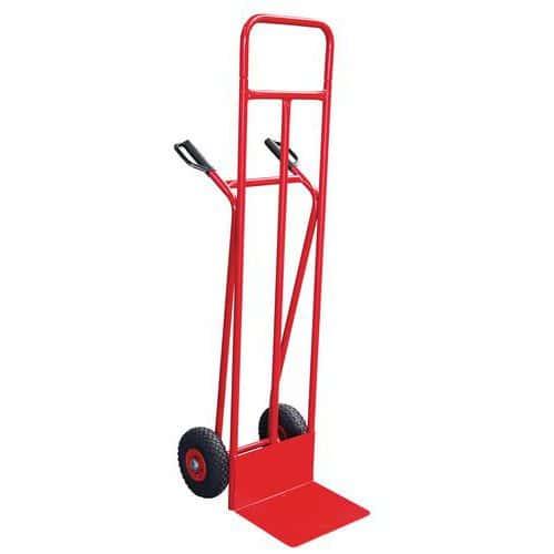Transportador em aço – 150kg – Roda antifuros – Aba fixa