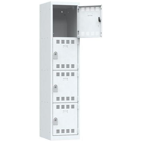 Cacifo multicompartimentos – 1 coluna – 4 compartimentos – 400mm de largura