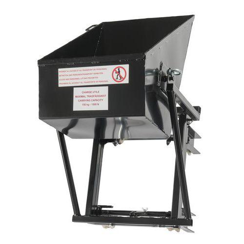 Contentor pendular para monta-cargas Castor Steel