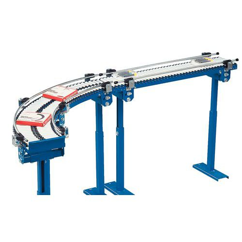 Micro-transportador gravítico - De rolos PVC Ø 20 mm comprimento 150 mm