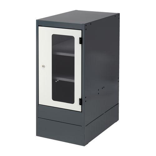 Bloco de gavetas - Com porta de vidro