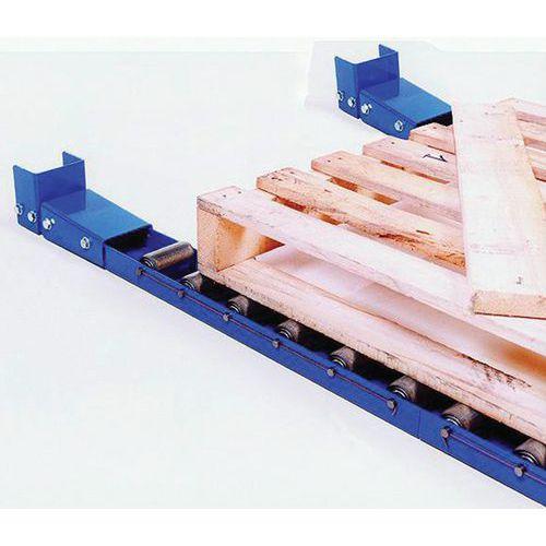 Calha com rolos aço - Comprimento 2000 mm