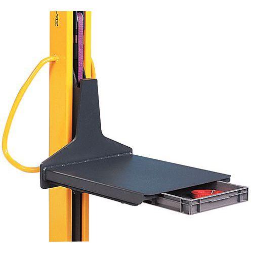 Tampo com gaveta corrediça - Para empilhadores Kléos e Stacky