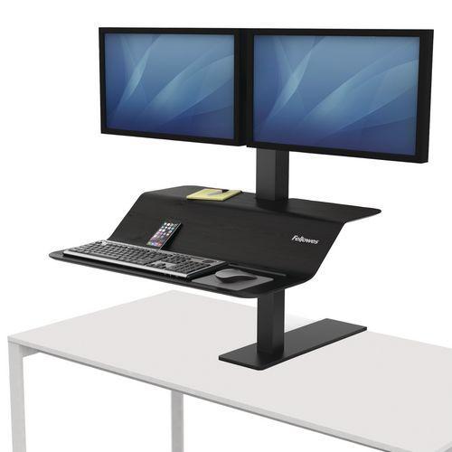 Estação de trabalho com posição em pé/sentada Lotus™ VE – Fellowes