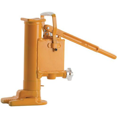 Macaco hidráulico com patilha com bomba - Capacidade de 5 e 10 toneladas
