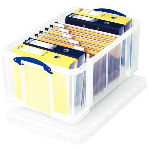 Caixa de arrumação - Comprimento 710 mm - Translúcido