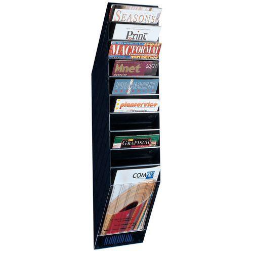 Expositor de parede para brochuras