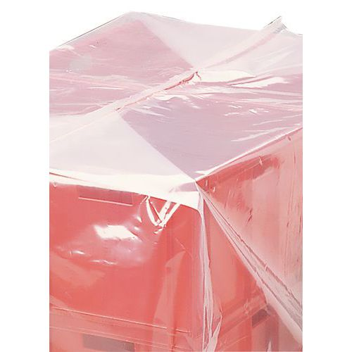 Cobertura polietileno termoretrátil - Para palete 800 x 1200 mm