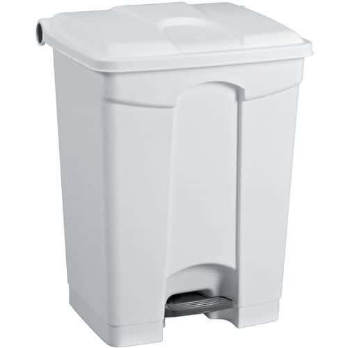 Caixote de lixo agroalimentar em plástico com rodízios – 70L – Manutan