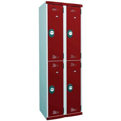 Cacifo multicompartimentos com cabides Seamline Optimum – Com base – Acial