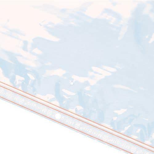 Saqueta plástica Minigrip® 60 mícrones - Com orifício de suspensão
