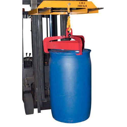Pinça automática e semiautomática para bidões - Capacidade 600 kg