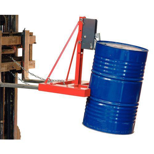 Pinça automática para 1 ou 2 bidões - Capacidade de 500 kg e 1000 kg