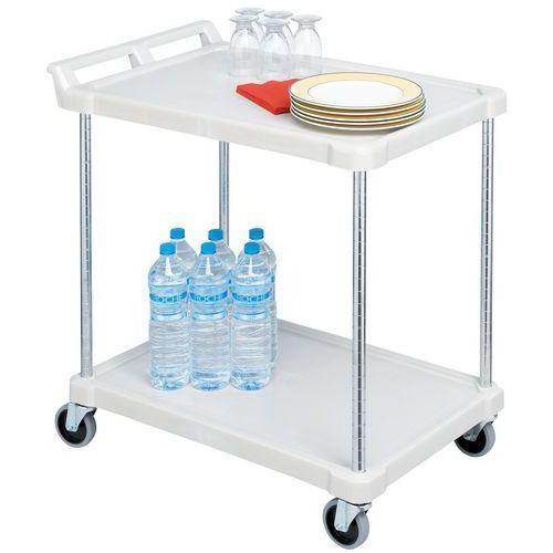 Carro plástico 2 plataformas - Capacidade 180 kg
