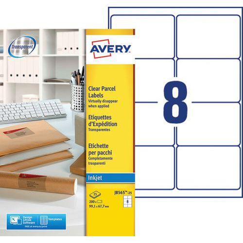 Etiqueta de expedição transparente Avery – impressão a jato de tinta