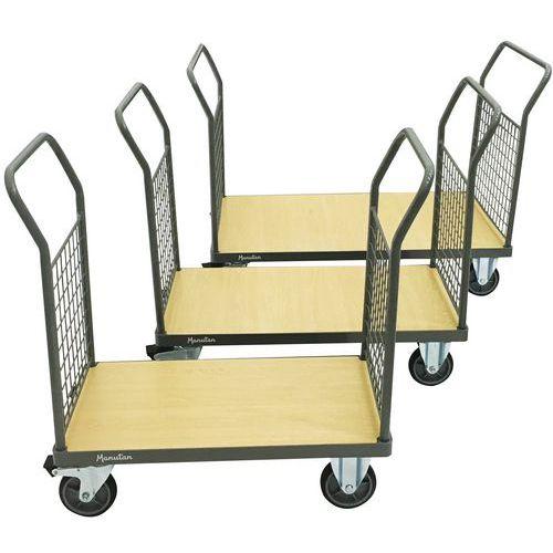 Carro com 2 paredes gradeadas – Capacidade: 500kg – Manutan