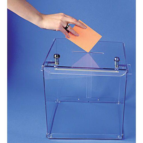 Urna eleitoral transparente - 600 boletins