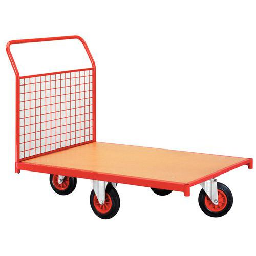 Carro com revestimento gradeado e rodas em losango - Capacidade 500 kg - 1 espaldar