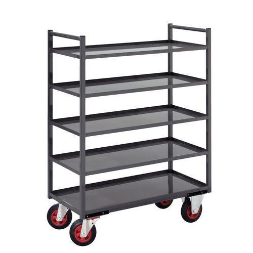 Móvel de apoio metal - 5 plataformas - Capacidade 400 kg