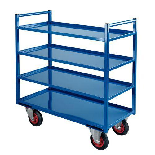 Móvel de apoio metal - 4 plataformas - Capacidade 400 kg