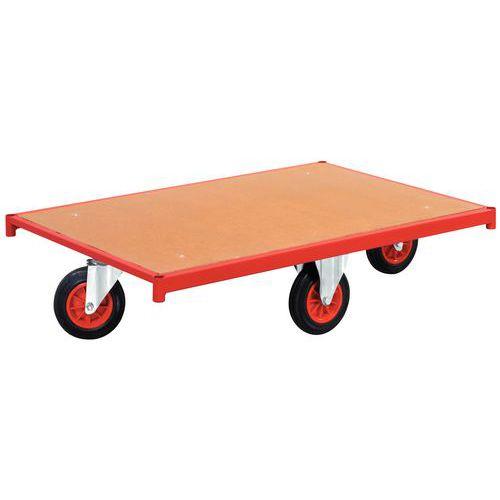 Plataforma rolante em madeira – Rodas em losango – Capacidade: 500 kg