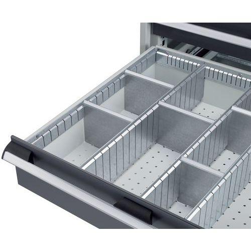 Lote de divisórias para armário de gavetas Bott SL-107 - 5 cm de altura