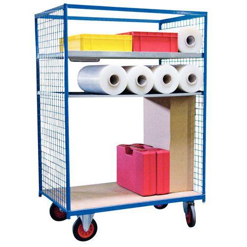 Móvel de apoio em madeira - 2 painéis gradeadas - Capacidade 500 kg