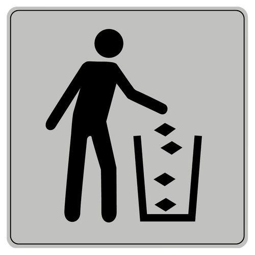 Pictograma em poliestireno ISO 7001 – Caixote de lixo