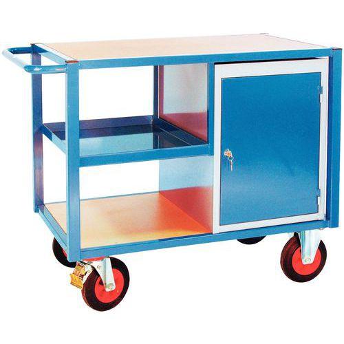 Carro 1 bloco de armário - 3 plataformas - Capacidade 500 kg