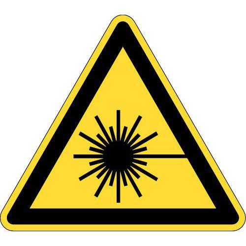 Painel de perigo - Perigo radiação laser - Rígido