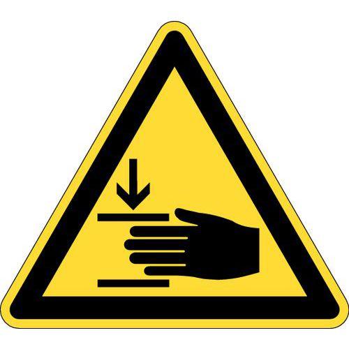 Painel de perigo - Risco de esmagamento - Rígido