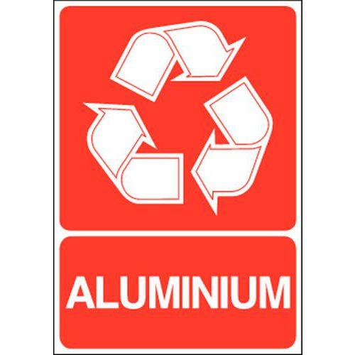 Painel de sinalização para separação seletiva – Alumínio