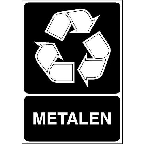 Painel de sinalização para separação seletiva – Metal
