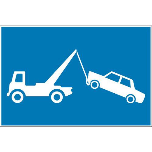 Pictograma de sinalização – autocolante – risco de roubo de automóveis