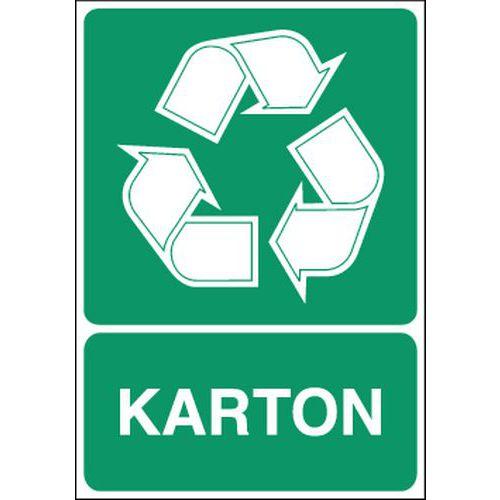 Painel de sinalização para separação seletiva – Cartão – Autocolante