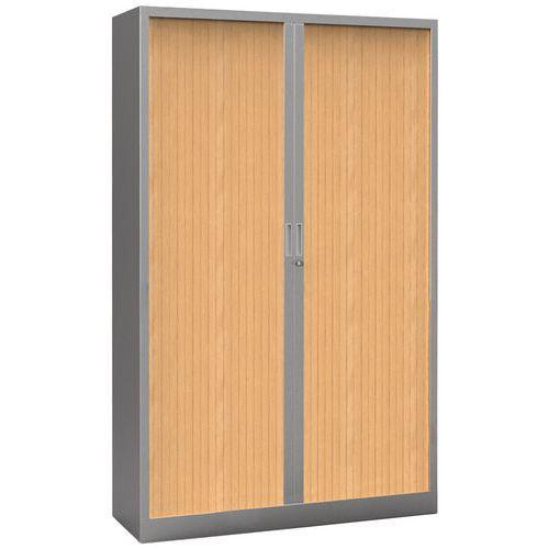 Armário com portas de persiana Premium bicolor - Altura 198 cm