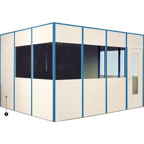 Cabine simples para parede em melamina – Desmontada – Porta rebatível