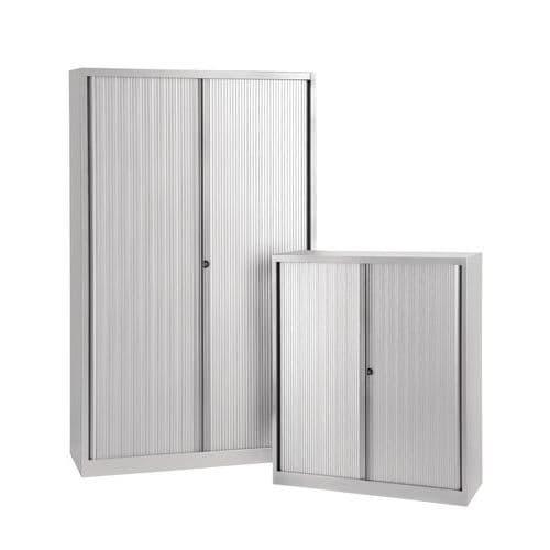 Armário com portas de persiana - Sem plataforma superior - Cinzento alumínio