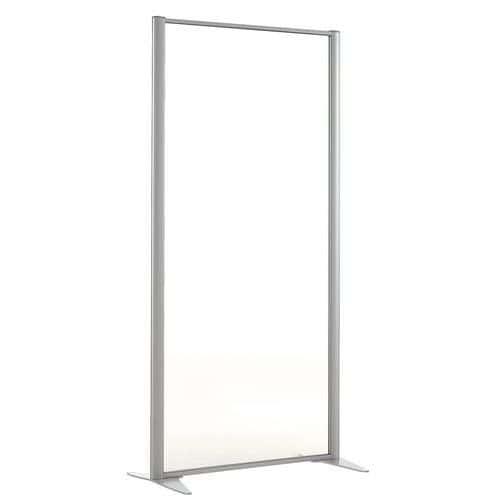 Divisória de separação KP+ - Em vidro - Altura 160 cm