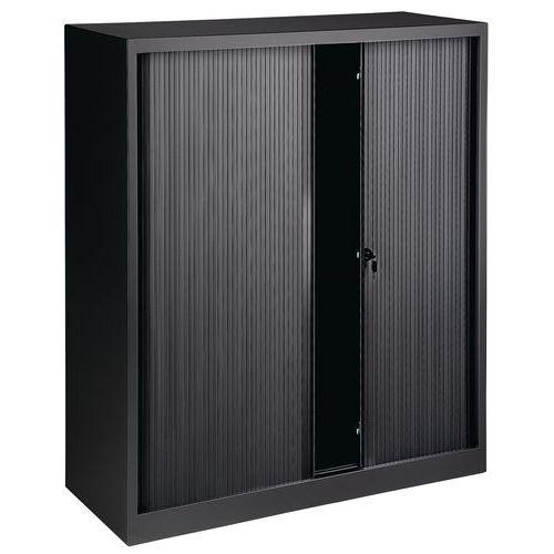Armário com portas de persiana - Sem plataforma superior - Preto