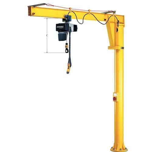 Grua de coluna com ângulo de rotação 360° - Capacidade 250 kg