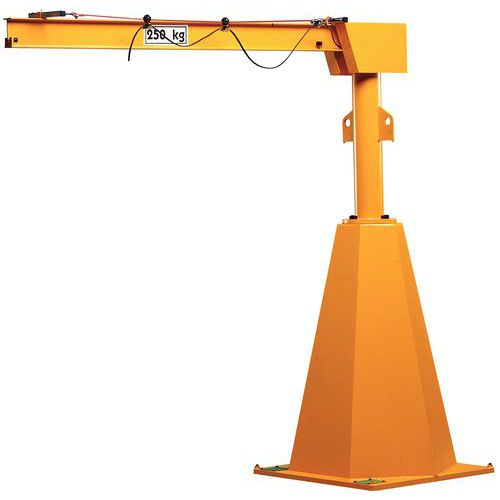 Grua de coluna com ângulo de rotação 360° - Capacidade 125 kg