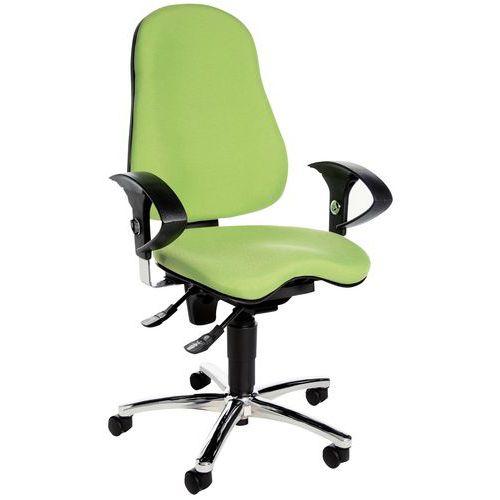Cadeira de escritório ergonómica Sitness 10 – base cromada