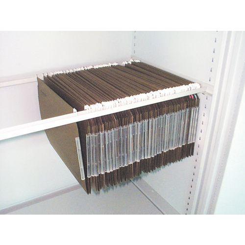 Sistema lateral para pendurar pastas de arquivos à prova de fogo do armário