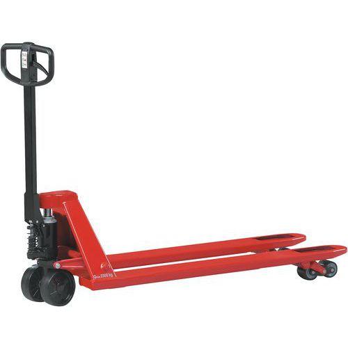 Porta-paletes manual com travão - Garfo com comprimento de 1220 mm - Força de 3000 kg
