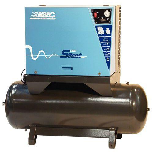 Compressor insonorizado com correia sobre reservatório - 5,5 CV