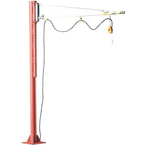 Grua giratória de coluna - Capacidade de elevação de 20 kg