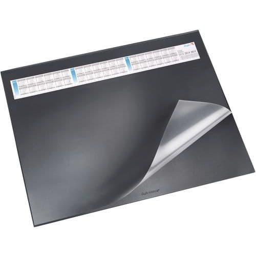 Base de secretária preta com aba transparente de 40 x 53cm