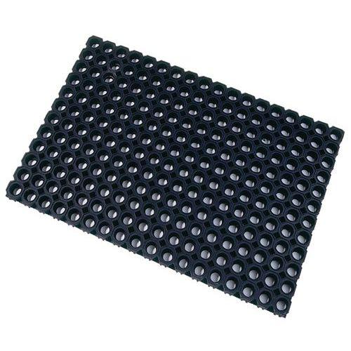 Tapete tipo plataforma gradeada preto – Floortex